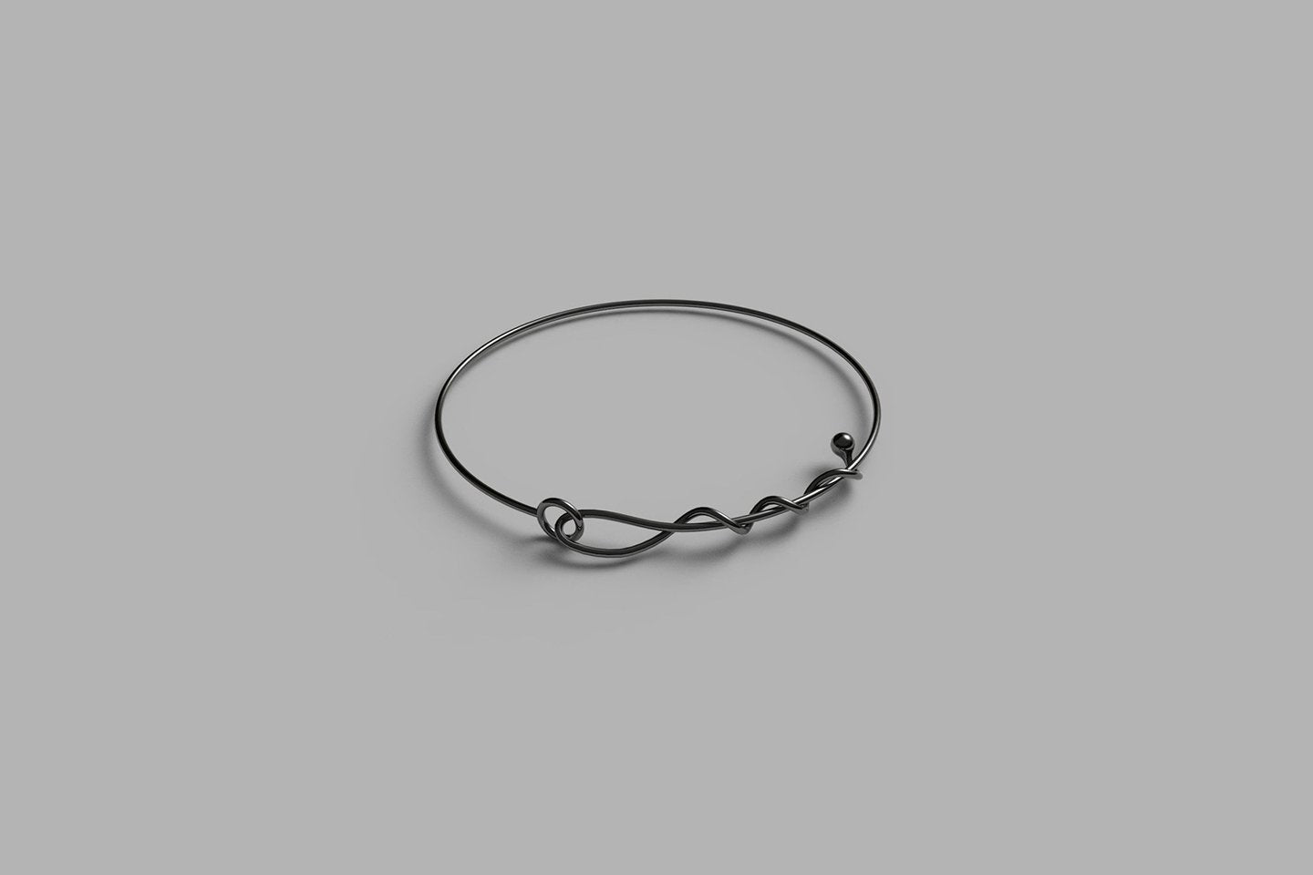 A Line of Love Bracelet | Oxidised Sterling Silver