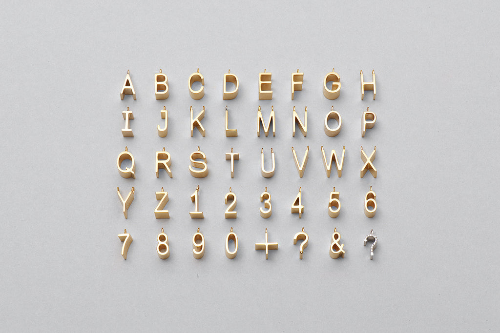 Alphabet | 18k yellow gold