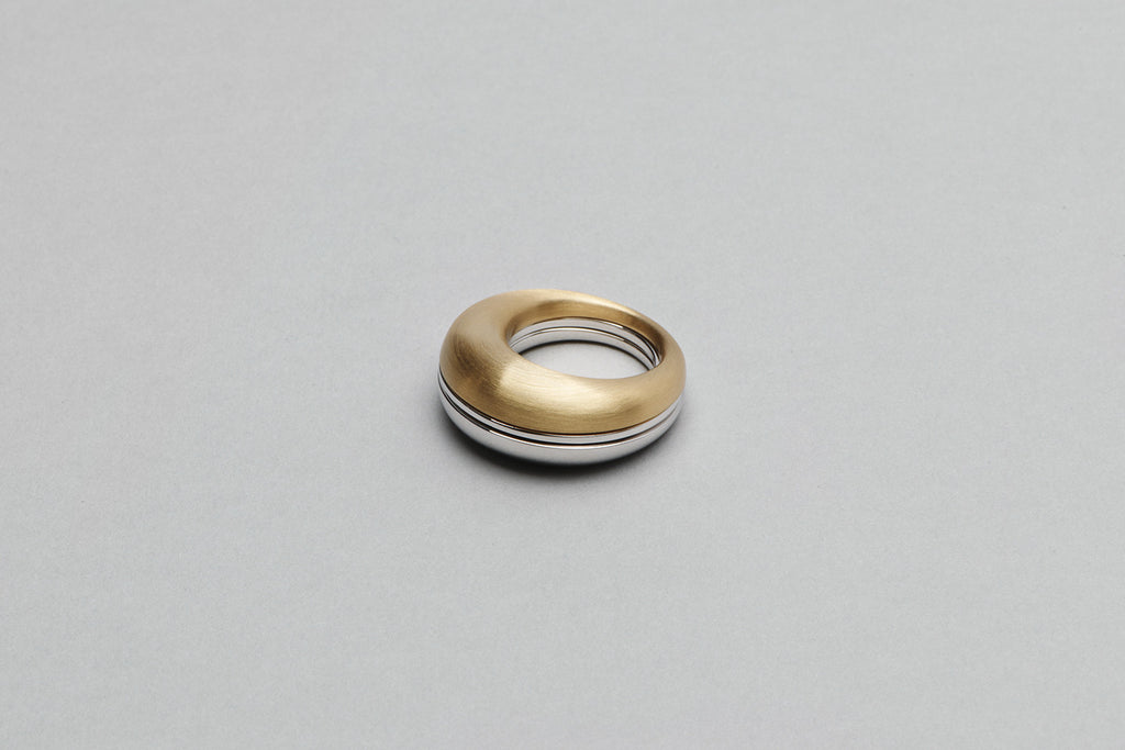 Beautiful Small Ring | 18K Yellow Gold and 18K White Gold