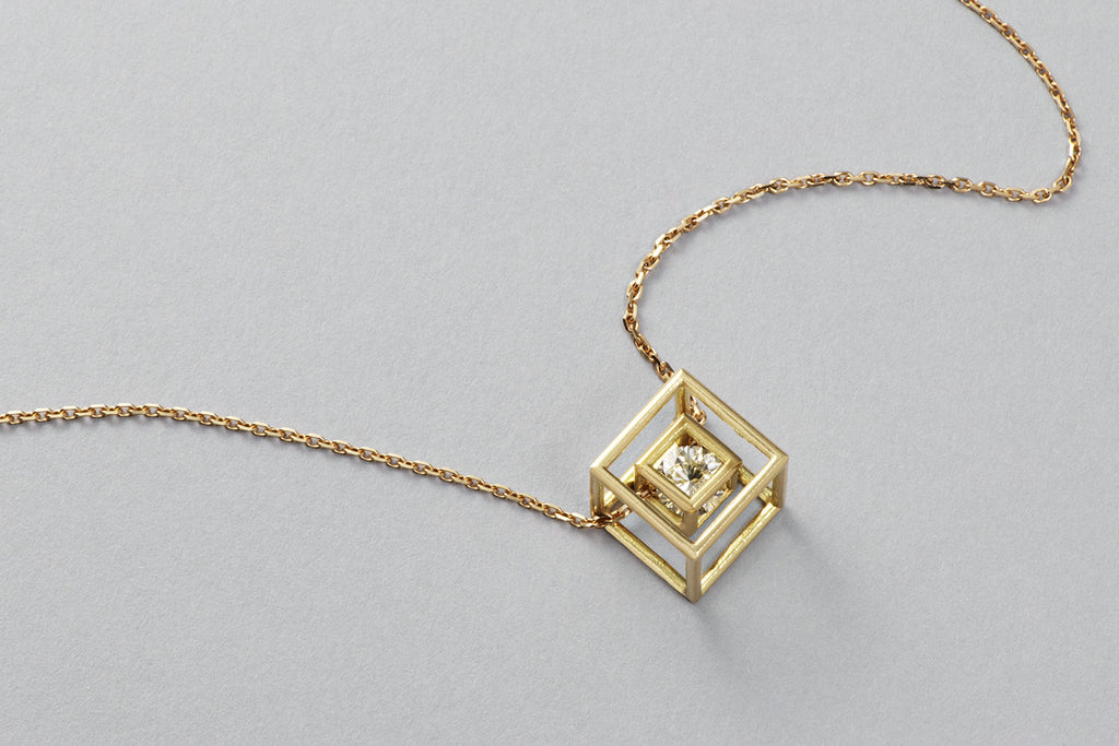 Grace pendant | 18k yellow gold with Brilliant cut diamond