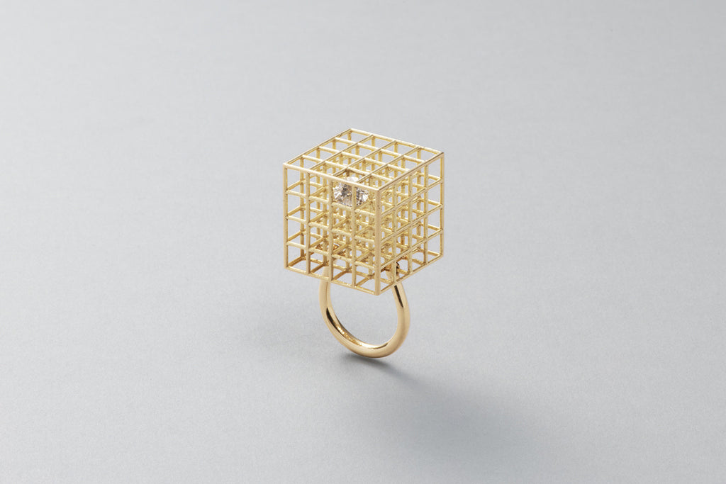 Grace ring | 18k yellow gold with Brilliant cut diamond