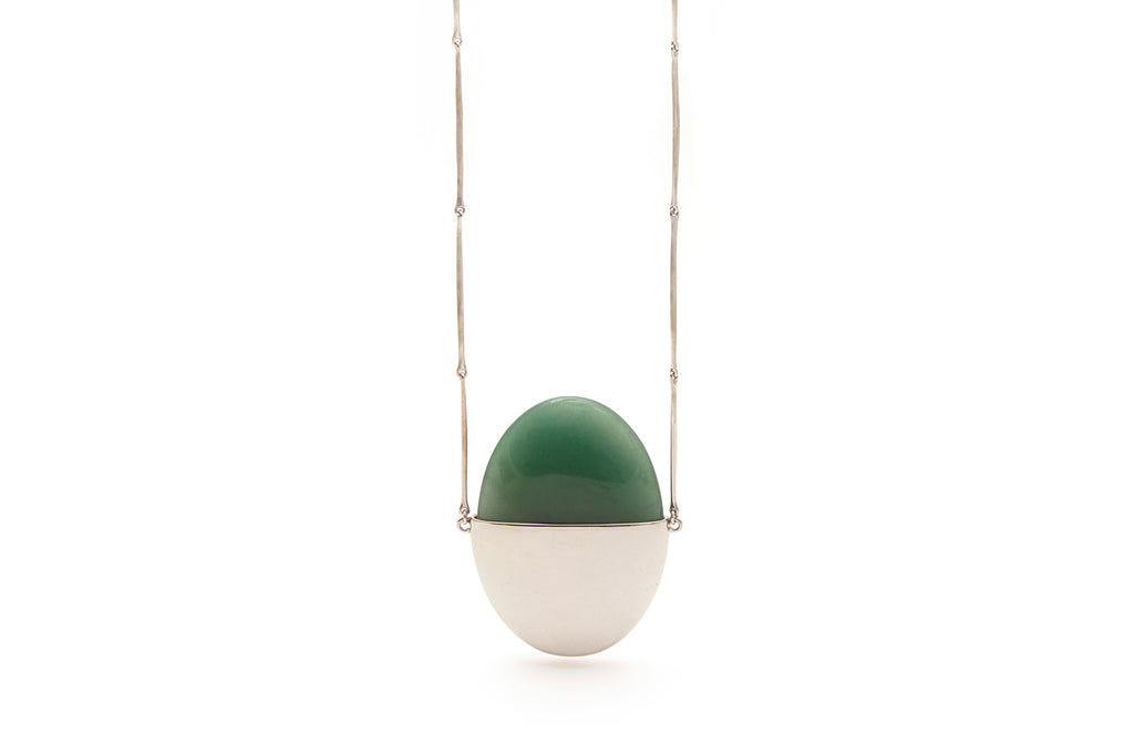 A Beautiful Life Large Pendant | Sterling Silver and Aventurine