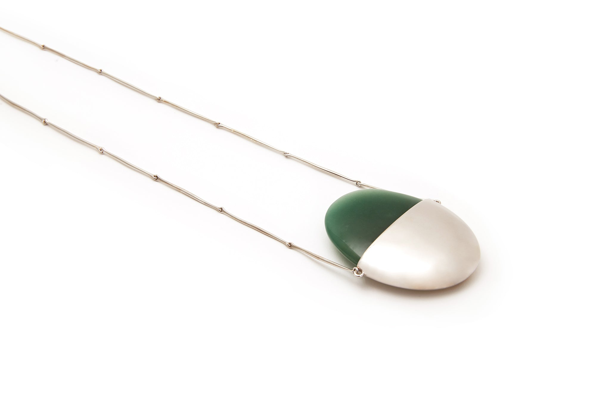 A Beautiful Life Small Pendant | Sterling Silver and Aventurine