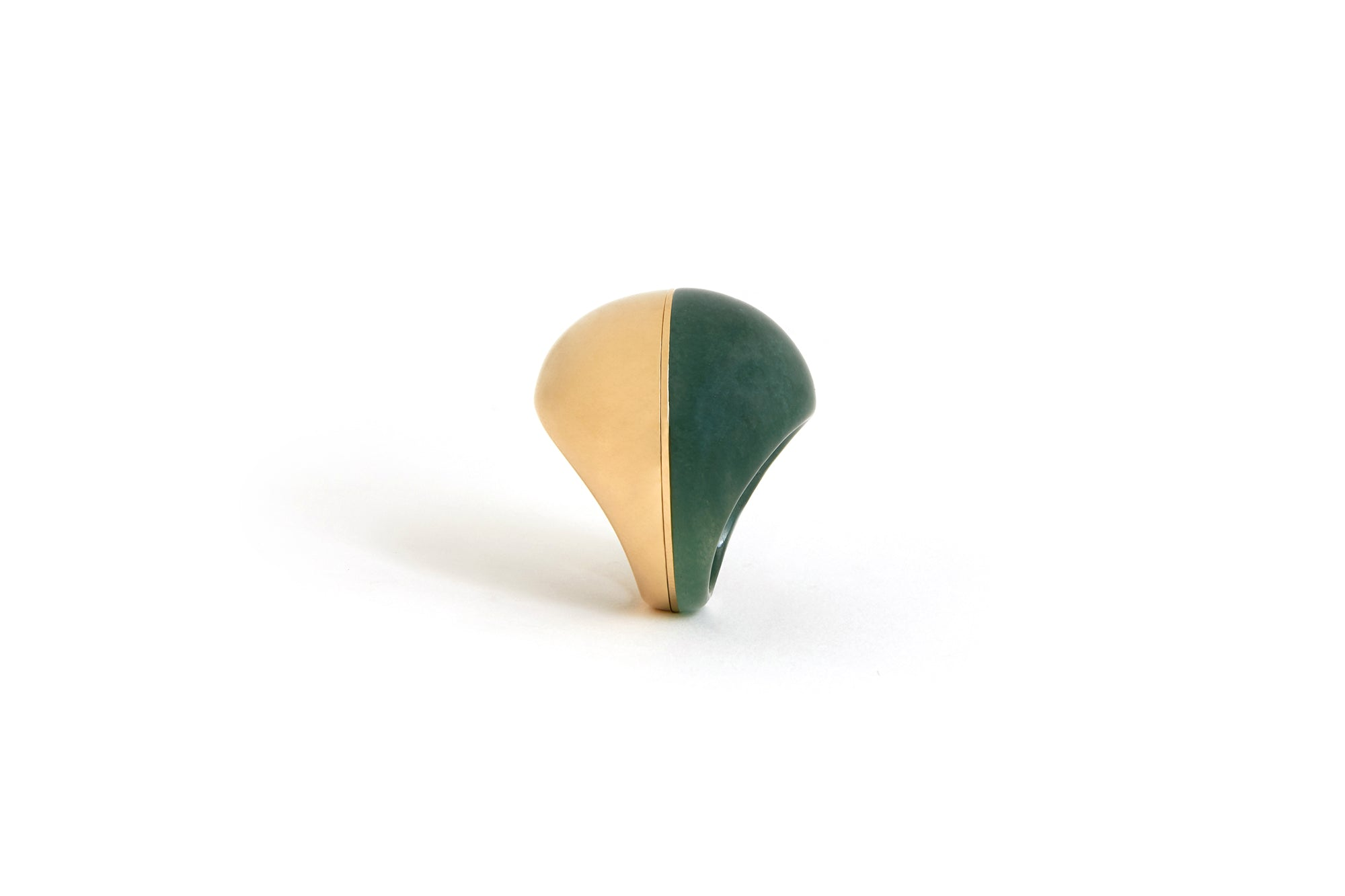 A Beautiful Life Ring | 18K Yellow Gold and Aventurine
