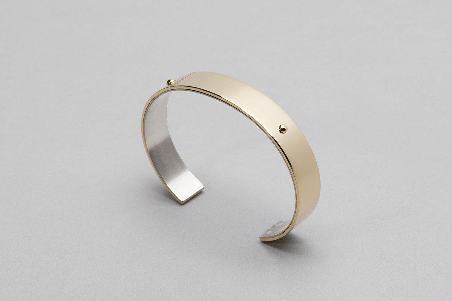 Wyatt Love cuff | 18k yellow gold and sterling silver
