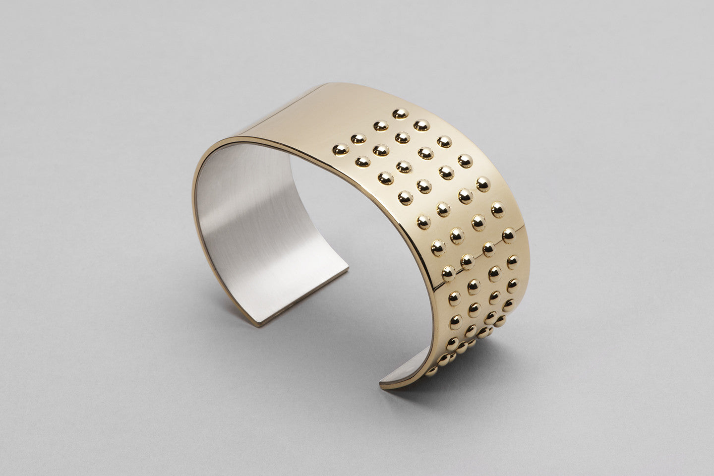 Wyatt More Love cuff | 18ct yellow gold and sterling silver