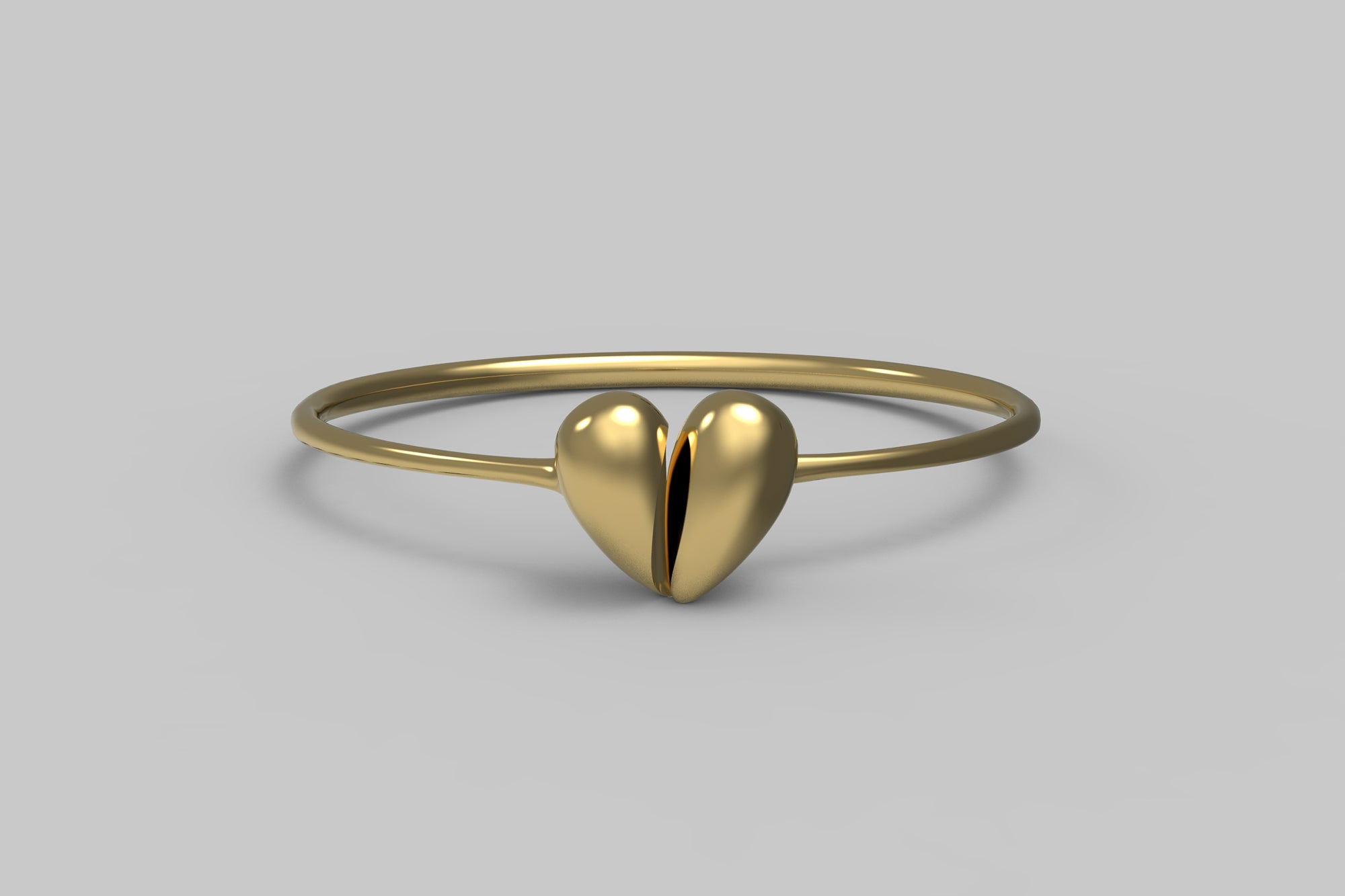 Black Love Bangle | 18K Yellow Gold