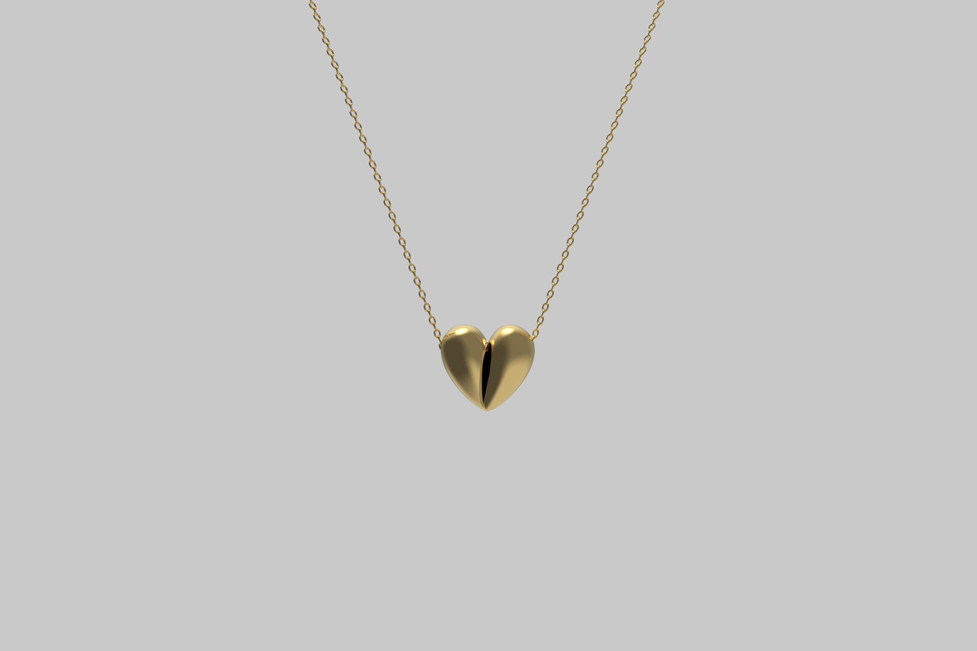 Black Love Small Pendant | 18K Yellow Gold
