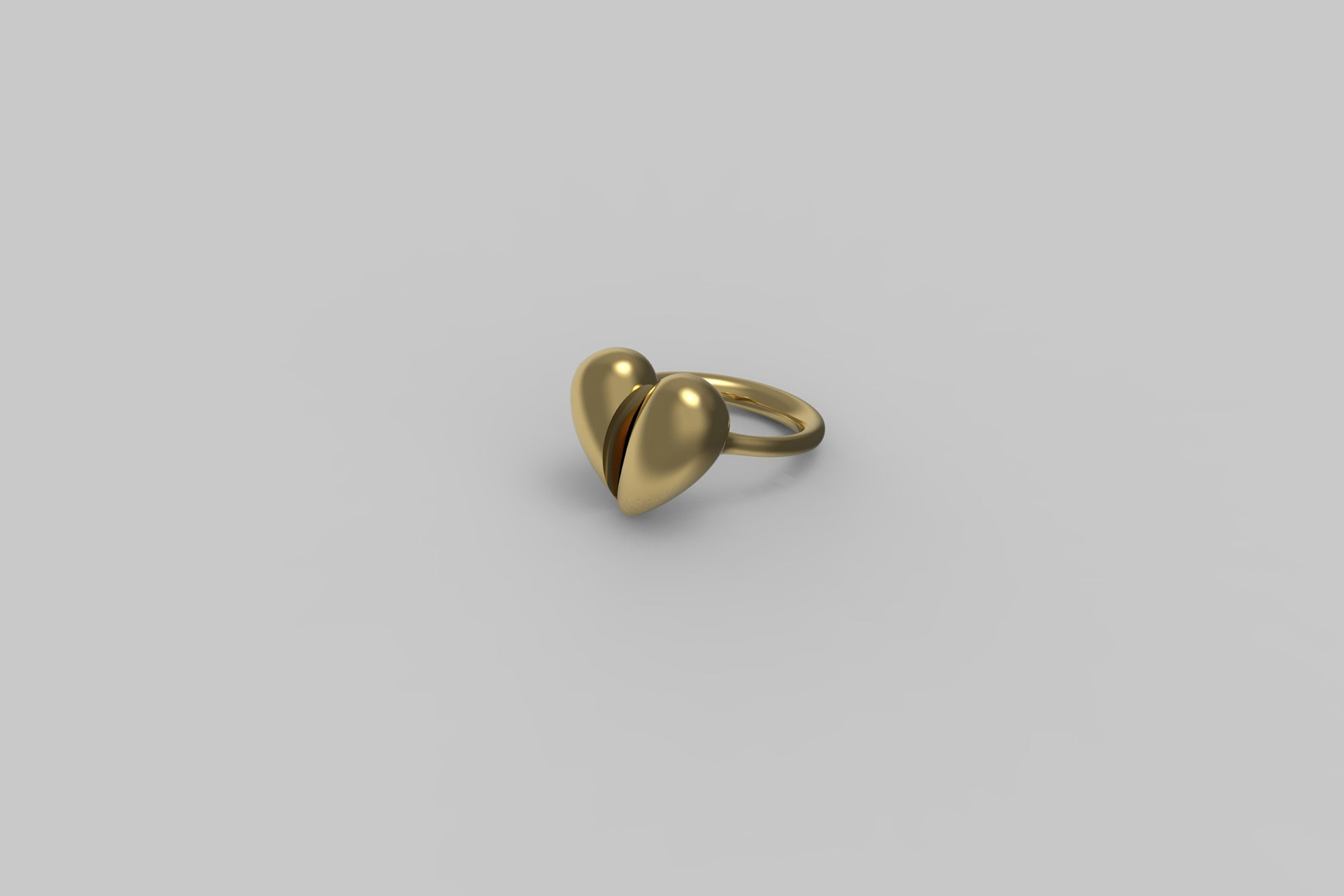 Black Love Small Ring | 18K Yellow Gold