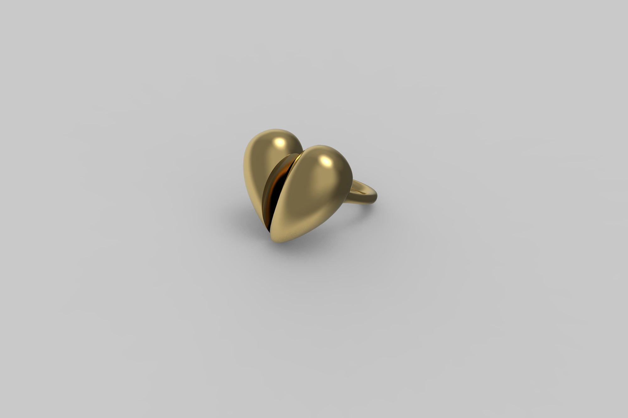 Black Love Large Ring | 18K Yellow Gold