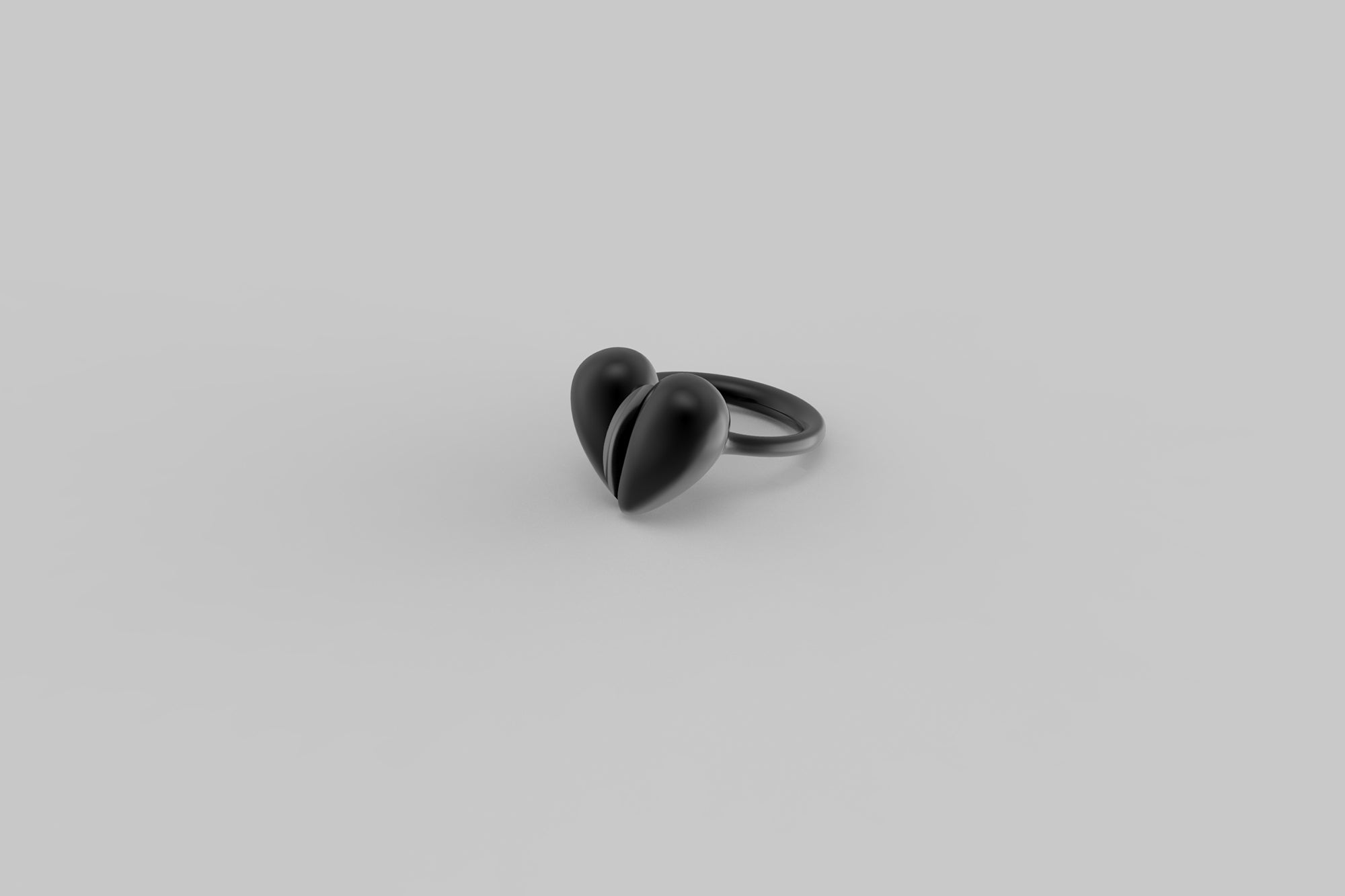 Black Love Small Ring | Oxidised Sterling Silver