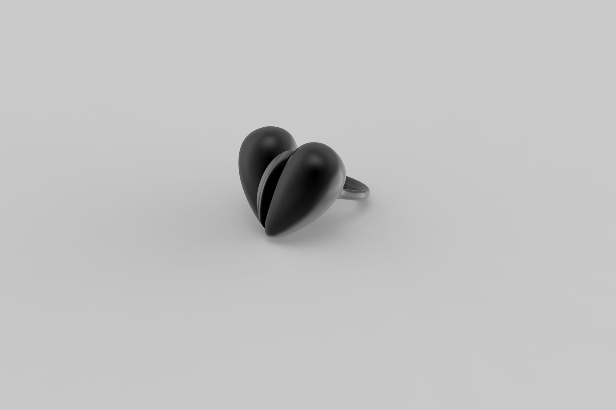 Black Love Large Ring | Oxidised Sterling Silver