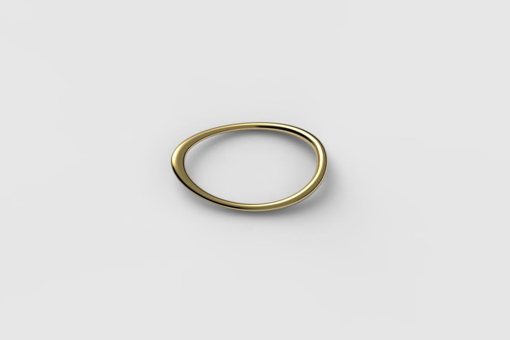 Egg Double Ring | 18k yellow gold