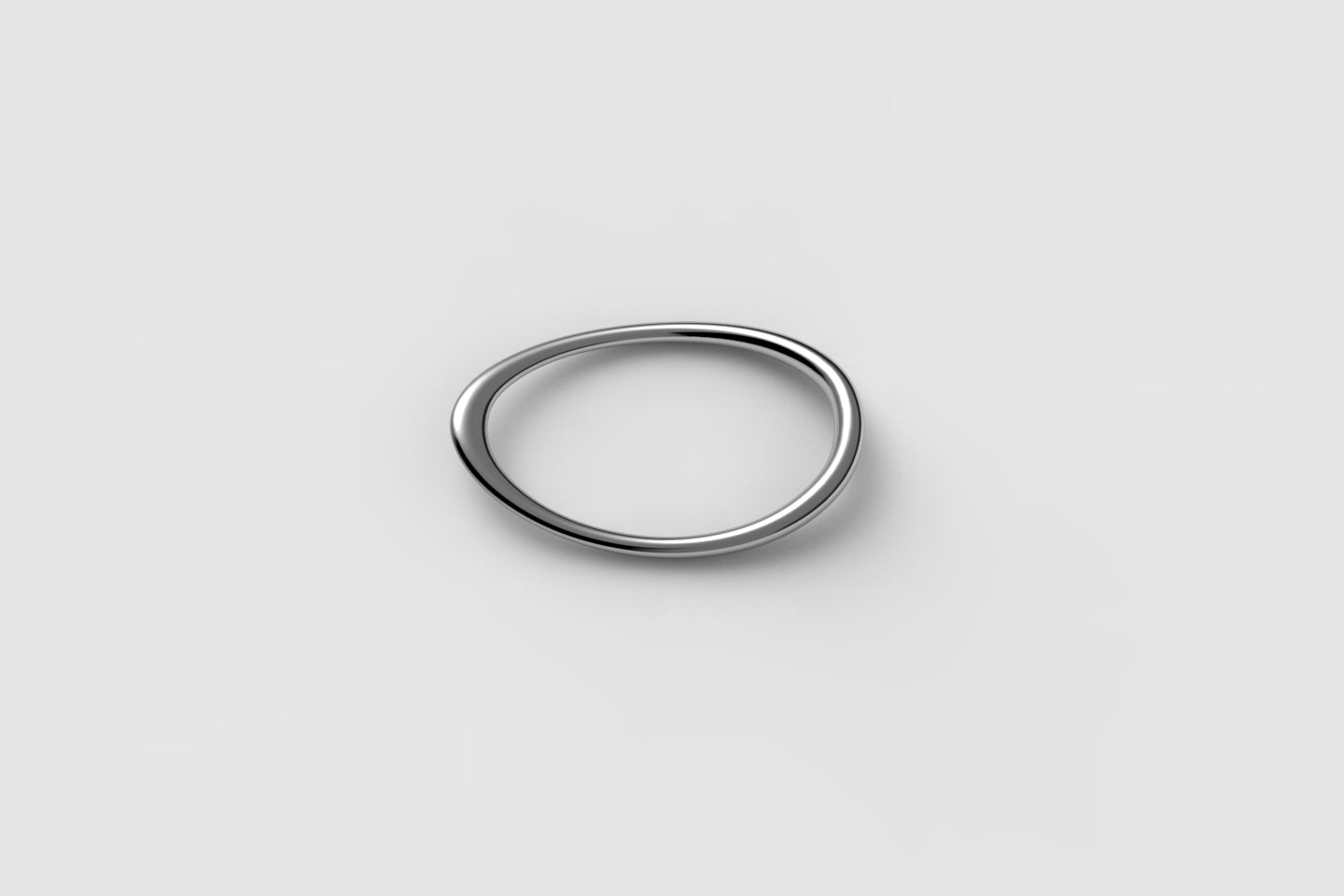 Egg Double Ring | Sterling Silver