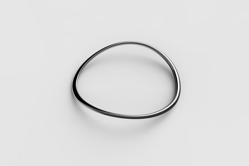 Egg Bangle | Sterling Silver