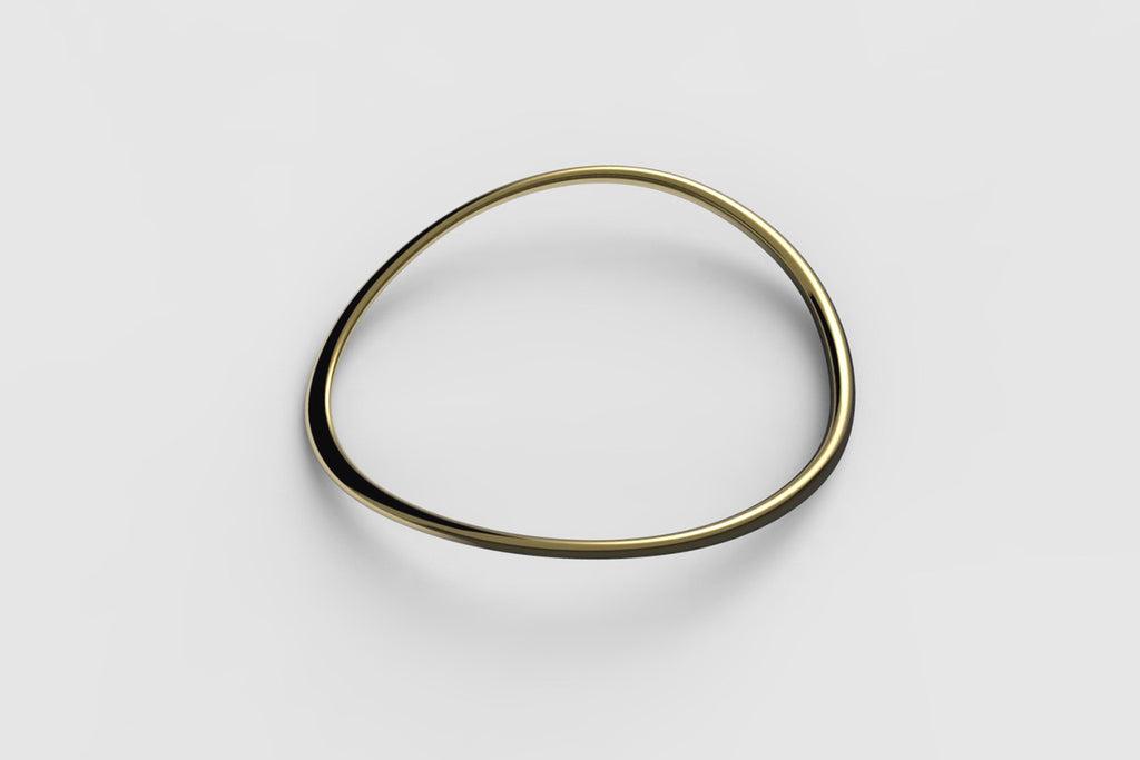 Egg Bangle | 18k yellow gold