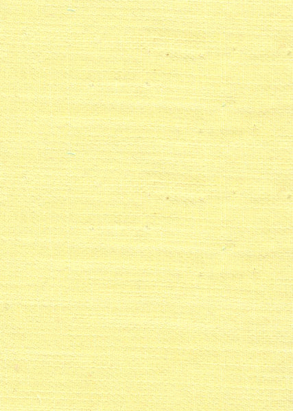 100% Cotton Light Yellow Colour Slub Dyed