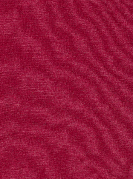 60% Cotton/40% Polyester Maroon Melange Colour Single Jersey