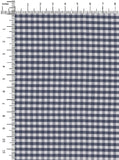 100% Cotton Navy/White Colour Gingham Checks