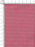 100% Cotton Red/White Colour Gingham Checks