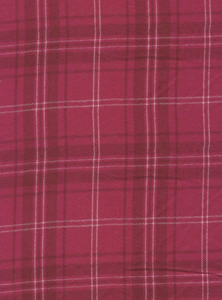 100% Cotton Pink/White Colour Light Weight Flannel Checks