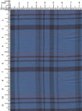 85% Cotton/15% Polyerster Blue/Navy Colour Medium Weight Flannel Checks