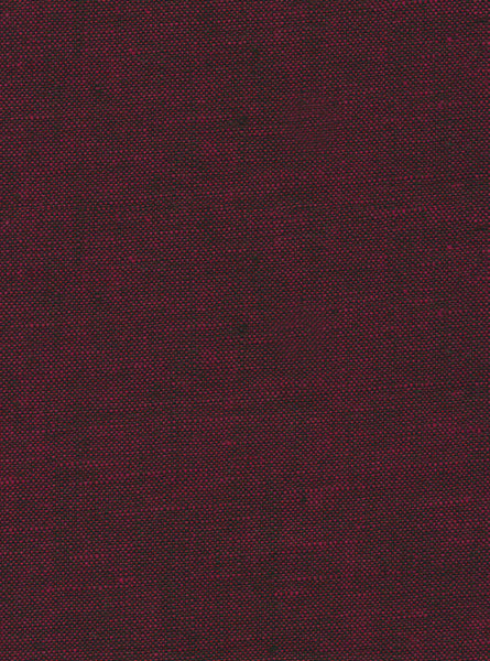 55% Linen/45% Cotton Maroon/Black Colour Linen Slub