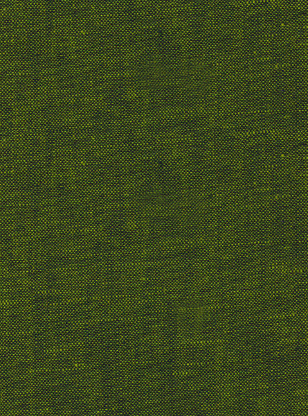 55% Linen/45% Cotton Green/Black Colour Linen Slub