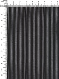 100% Viscose Black/White Colour Stripes