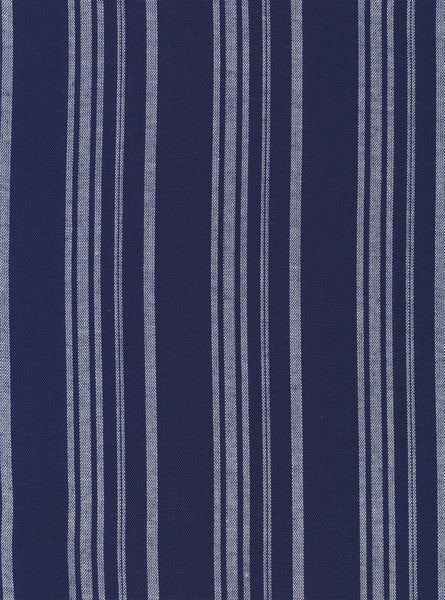 100% Viscose Navy/White Colour Stripes