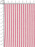 100% Viscose Pink/White Colour Stripes