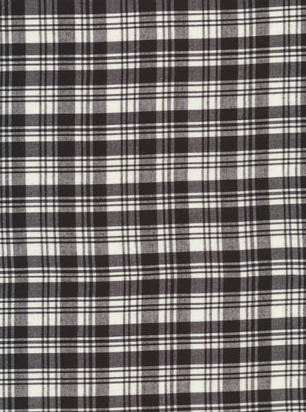 100% Viscose White/Black Colour Small Checks