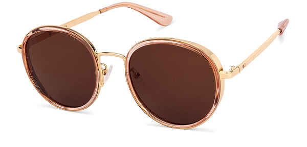 Sunglasses-Round-Grey Gold-SG