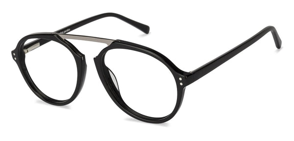Eyeglasses For Women-Round-Gunmetal Black-EG