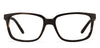 ARTHOUSE COLLECTIVE JJ E10733 UNISEX RECTANGLE BLACK EYEGLASSES