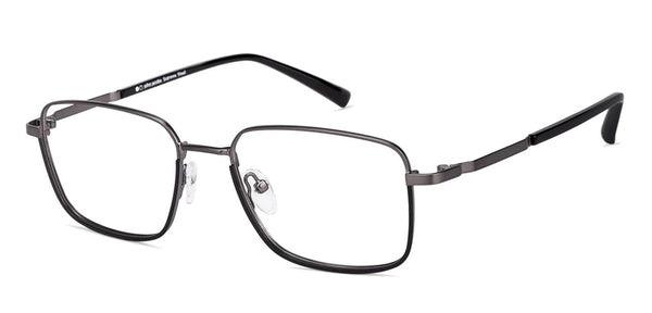 Eyeglasses For Men-Rectangle-Gunmetal Black-EG