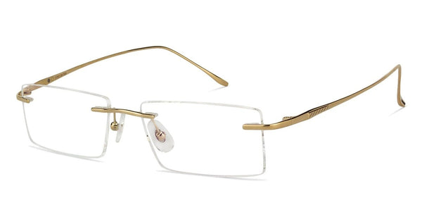 Eyeglasses For Men-Rectangle-Gold-EG