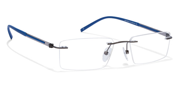 Eyeglasses-Rectangle-Matte Blue-EG
