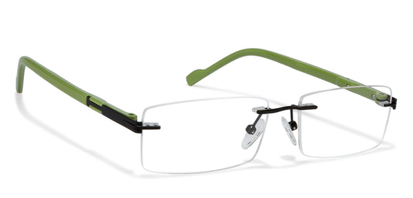 Rimless eyeglasses-Rectangle-Gold-EG