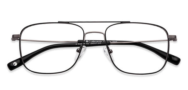 Eyeglasses-Rectangle-Gunmetal Black-EG