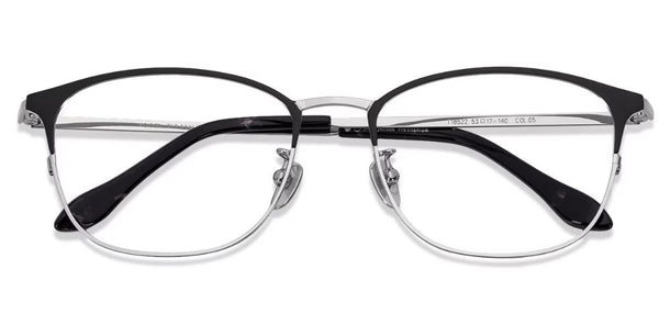 Eyeglasses For Men-Wayfarer-Silver-EG