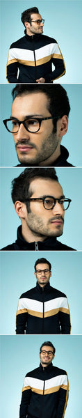 Eyeglasses For Men-Wayfarer-Grey Transparent-EG