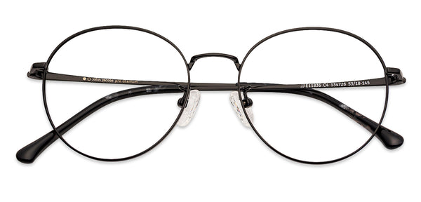 Eyeglasses For Women-Round-Black-EG