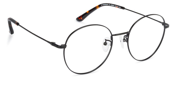 Eyeglasses For Men-Round-Matte Black-EG