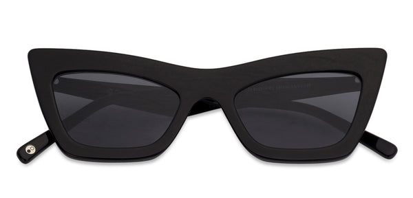Sunglasses For Women-Cat Eye-Black-SG