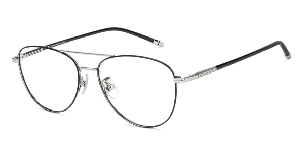 Eyeglasses For Men-Aviator-Black-EG