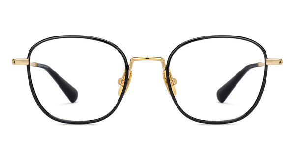Eyeglasses For Men-AviatorWayfarer-Black Gold-EG