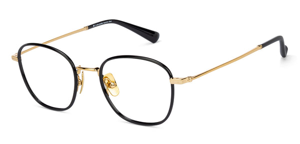 Eyeglasses For Men-Wayfarer-Black Gold-EG