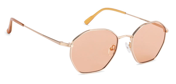 Sunglasses For Women-Round-Brown Gold-SG