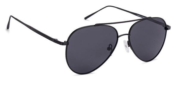 Sunglasses For Women-Aviator-Matte Black Grey-SG